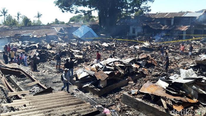 Kondisi Pasar Cepogo pasca terbakar