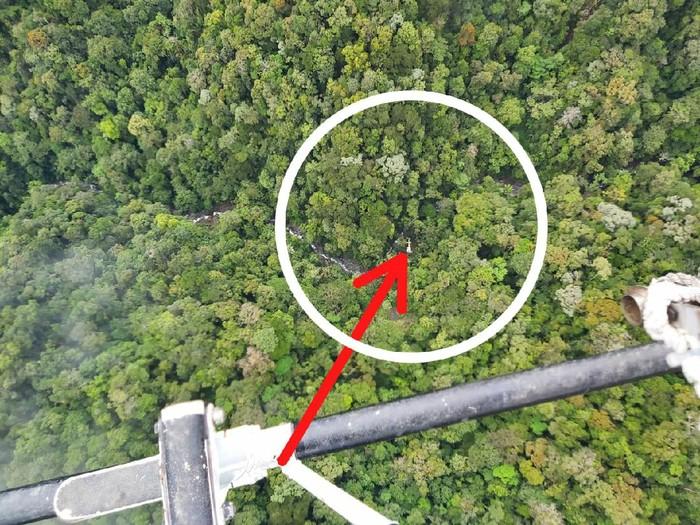 Lokasi penemuan helikopter di Paniai yang sempat hilang kontak (dok Polda Papua)
