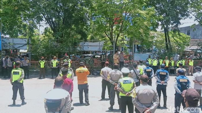 Lokasi penindakan masker di Banjarmasin, Kalimantan Selatan (Risanta/detikcom)