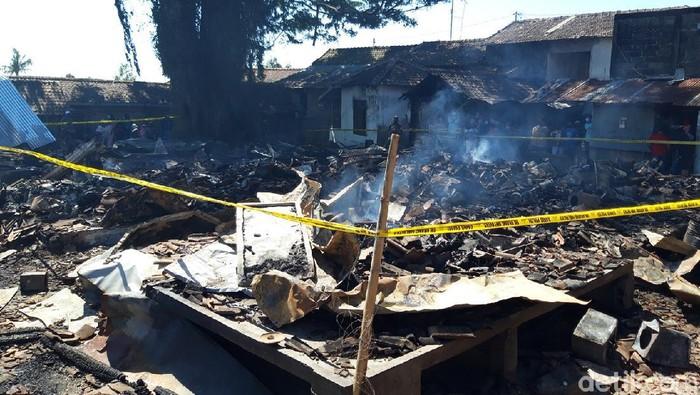 Pasar Cepogo, Boyolali, yang terbakar, Kamis (17/9/2020).
