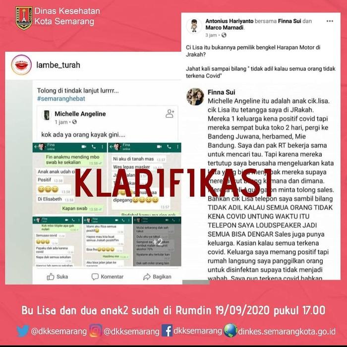 Klarifikasi chatting ajakan menyebarkan corona di Semarang