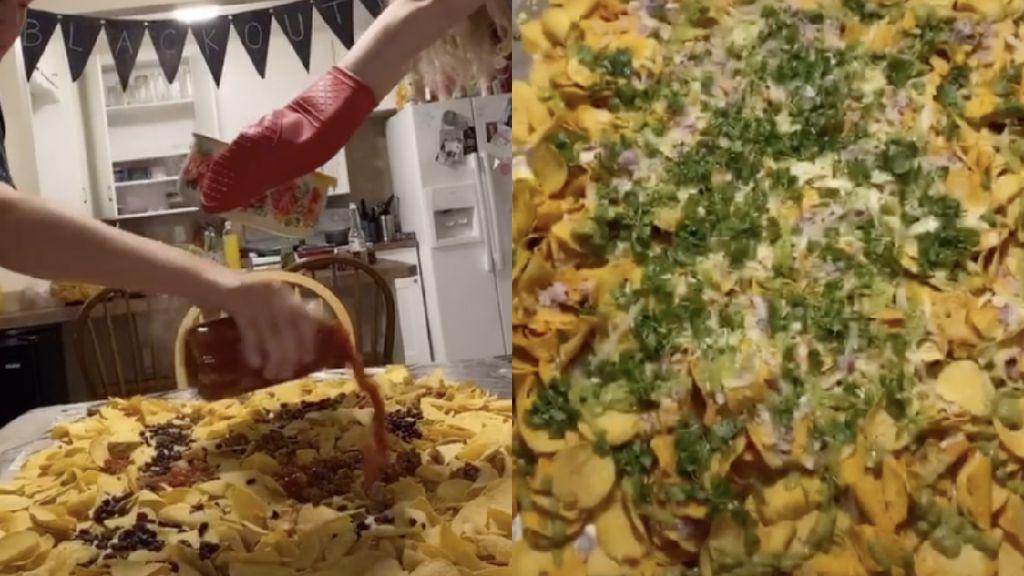 Ngetren di TikTok, Makan Nachos yang Ditumpahkan di Atas Meja