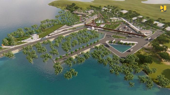 Kementerian PUPR membangun pos lintas batas negara (PLBN) Sei Pancang di Nunukan, Kalimantan Utara (Kaltara). Targetnya PLBN ini rampung Juli 2021.