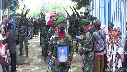 TNI Gugur Ditembak KKB Dimakamkan di TMP Pinrang, Diusulkan Naik Pangkat