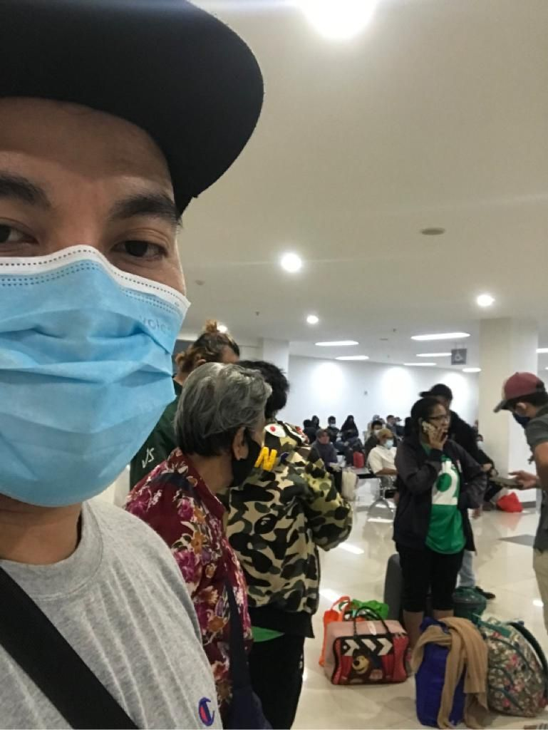 Chritman Datubara, seorang pasien COVID-19 tanpa gejala yang menjalani isolasi di flat Wisma Atlet. (Dok pribadi)