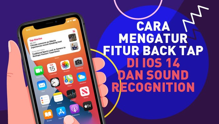 Infografis Cara Atur Back Tap dan Sound iOS 14