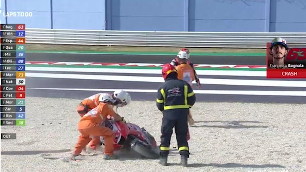 Korban-korban Berjatuhan di MotoGP Emilia Romagna: Rossi-Bagnaia