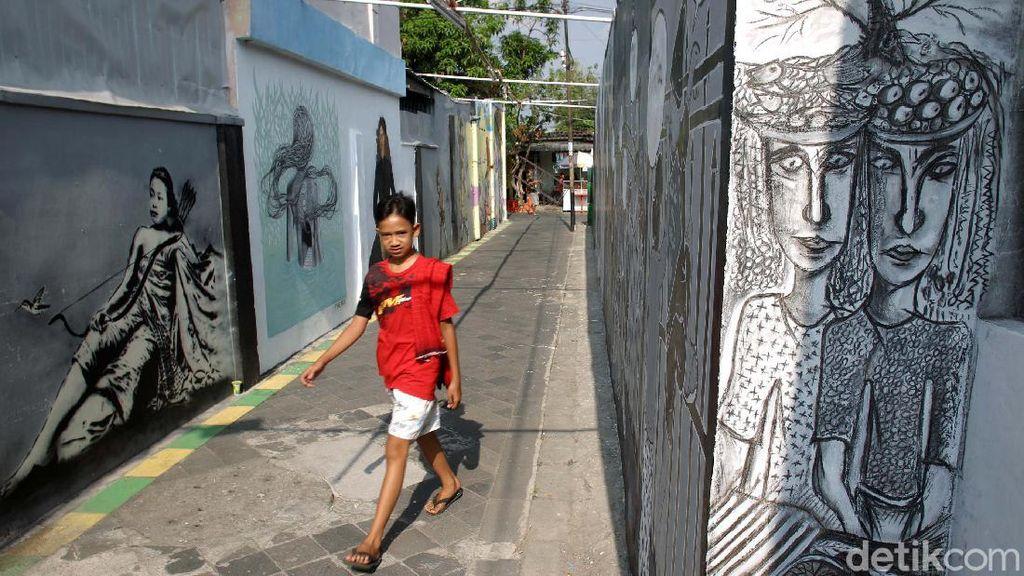 Meriah Mural di Kampung Taman Yogyakarta
