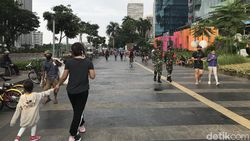 PSBB Ketat Jakarta, Aktivitas Olahraga Masih Ramai di Kawasan Sudirman
