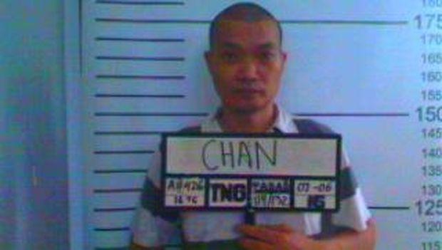 Tampang Cai Changpan saat masuk lapas.