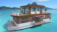 Bukan Kapal Pesiar, Ini Vila Terapung Mewah di Bora-bora