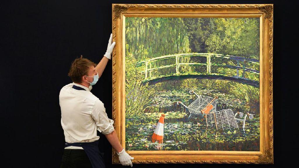 Tok! Pecahkan Rekor, Lukisan Parodi Banksy Laku Rp 111 M dalam 9 Menit