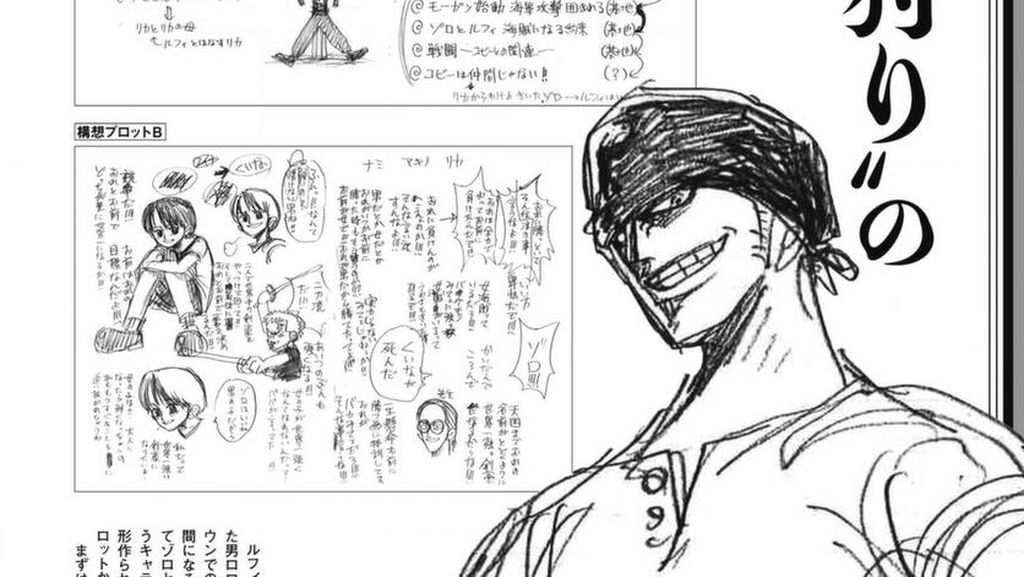Eiichiro Oda Bagikan Sketsa Awal saat Bikin Karakter Zoro