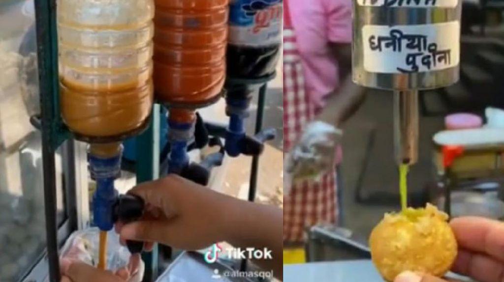 Kreatif! Penjual Ini Bikin Tempat Saus Pakai Botol Plastik Mirip Dispenser