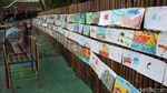 Pinggiran Sungai di Bantul Jadi Lokasi Pameran Lukisan Anak-anak