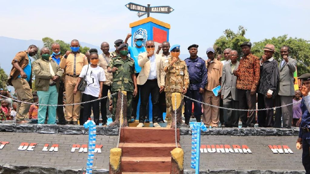 Satgas TNI Resmikan Monument of Peace di Kongo