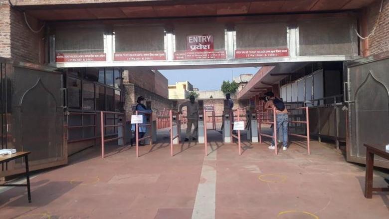 Kondisi Taj Mahal hari pertama saat buka kembali, Senin (21/9/2020)
