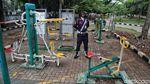 Taman Waduk Pluit di Masa PSBB Ketat