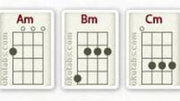ukulele minor chords