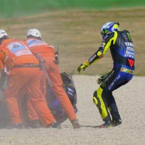 Crash di MotoGP Emilia Romagna, Ini Penjelasan Valentino Rossi