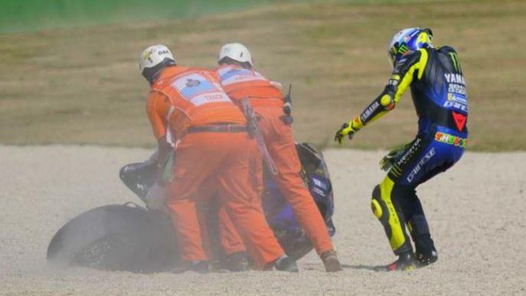 Kenapa Mesin Motor MotoGP Mati saat Terjatuh?