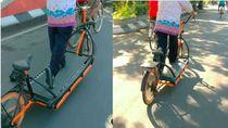 Lagi Viral di Semarang, Ini Sepeda atau Treadmill Berjalan?