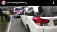 Viral Ribut-ribut Rombongan Ambulans Jenazah dan Pemobil di Banyumas
