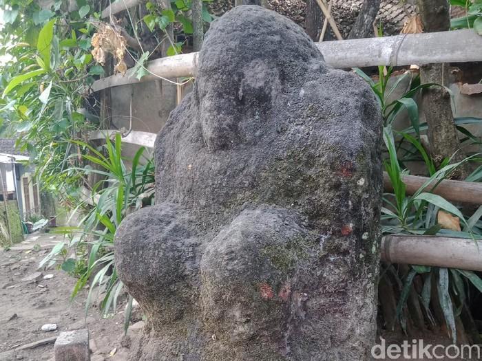 Arca Ganesha ada di perempatan jalan perkampungan Klaten, Selasa (22/9/2020).