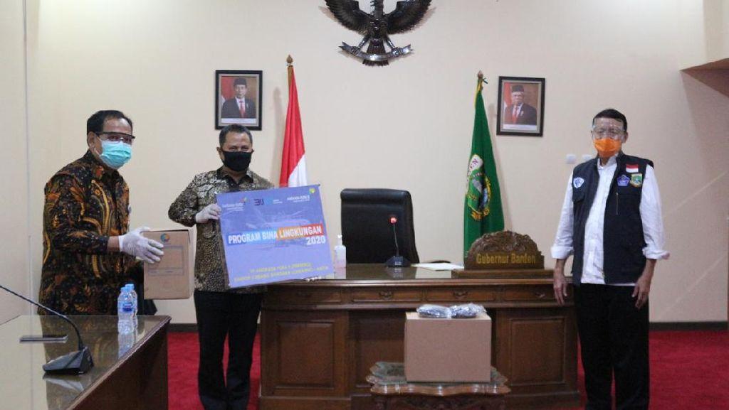 Pemprov Banten Terima Bantuan 50 Ribu Masker dari PT Angkasa Pura II
