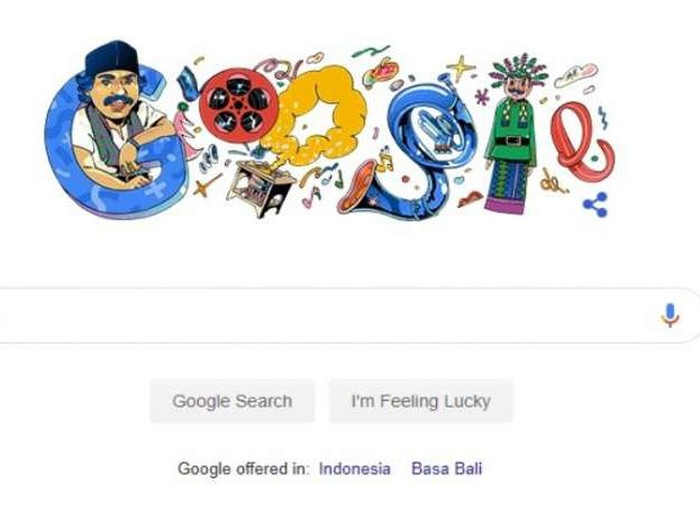 Google Doodle Hari Ini menampilkan seniman Betawi Benyamin Sueb