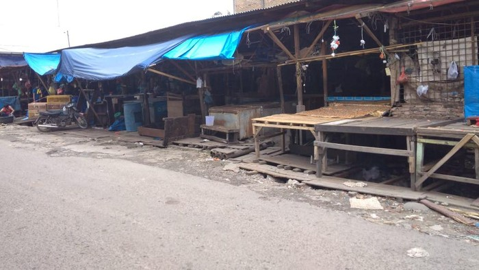 Kondisi di Pasar Melati (Datuk Haris-detikcom)