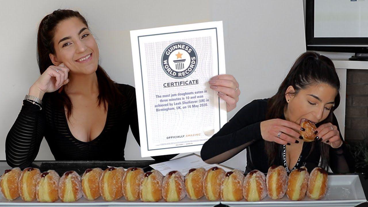Leah Shutkever berhasil pecahkan banyak rekor dunia seputar makanan