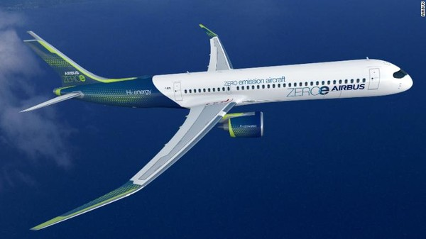 Tiga konsep pesawat ZEROe oleh Airbus yakni berjenis turbofan, turboprop, dan badan yang menyatu dengan sayap. Armadanya diperkirakan masuk ke dalam layanan pada tahun 2035. Pesawt jenis turbofan ini bisa membawa 120 hingga 200 penumpang dengan jangkauan lebih dari 2.000 mil laut.