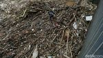 Gegara Banjir Kiriman, Sampah Menumpuk di Pintu Air Manggarai