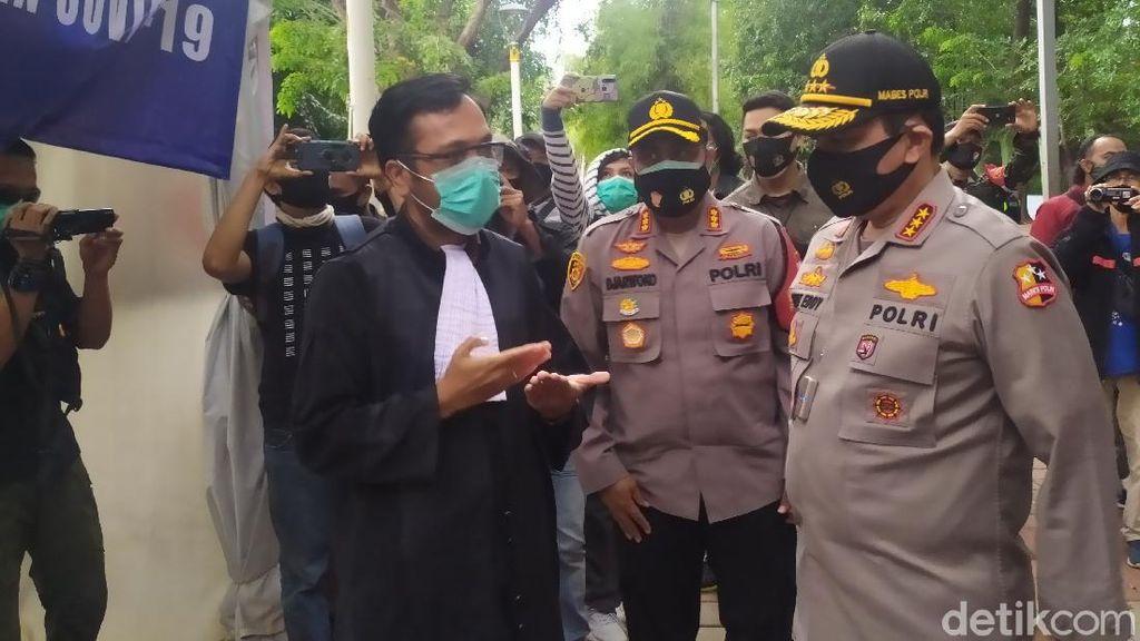 Tinjau Operasi Yustisi, Wakapolri Ingatkan Masker Obat Sementara Cegah COVID