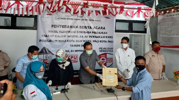KPU Kota Palu menetapkan empat paslon menjadi peserta Pilwakot Palu