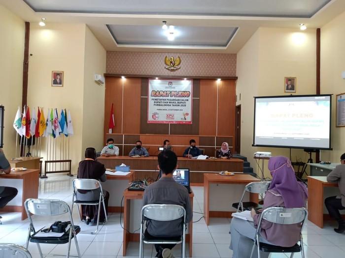 KPU Tetapkan 2 paslon peserta Pilkada Purbalingga 2020, Rabu (23/9/2020).