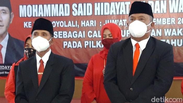 M Said Hidayat-Wahyu Irawan ditetapkan sebagai calon tunggal di Pilkada Boyolali 2020.