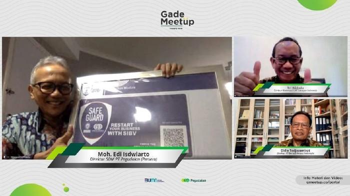 PT Pegadaian (Persero) memperolah label SIBV Safe Guard, sebuah label yang mengacu pada praktik global yang telah direkomendasikan Organisasi Kesehatan Dunia (WHO).