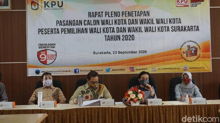Penetapan paslon peserta Pilkada Solo, Rabu (23/9/2020).