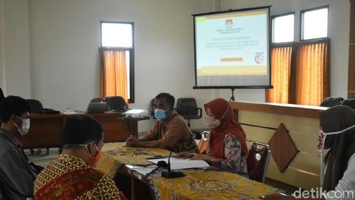 Rapat pleno penetapan paslon Pilkada Klaten di kantor KPU Klaten, Rabu (23/9/2020)
