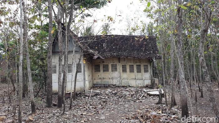 Rumah tua di tengah kebun jati di Gunungkidul yang viral, Rabu (23/9/2020).