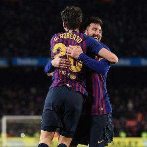 Sergi Roberto Membayangkan Barca Tanpa Messi