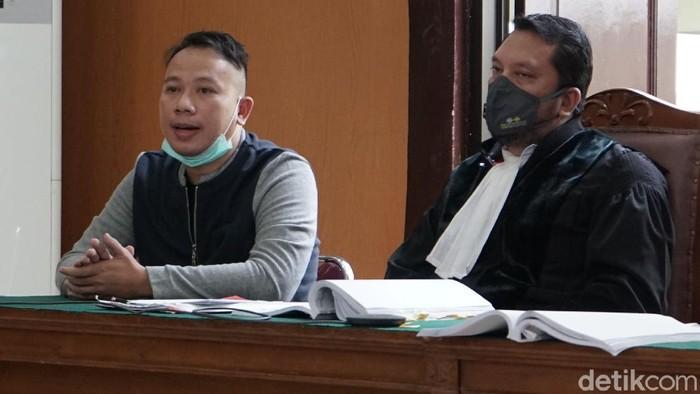 Vicky Prasetyo saat ditemui di persidangan di Pengadilan Negeri Jakarta Selatan.