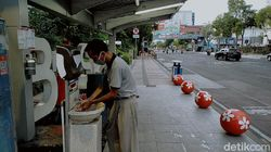 Potret Wastafel Portable di Surabaya, yang Digunakan dan Terabaikan
