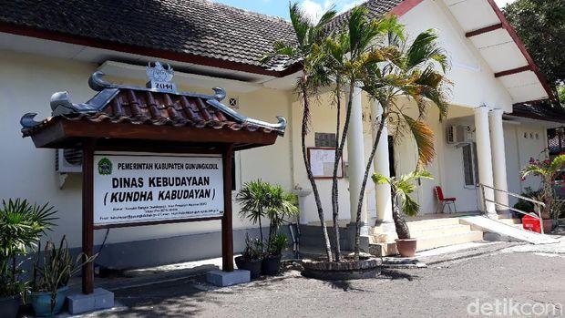 Kantor Dinas Kebudayaan Gunungkidul, Kamis (24/9/2020).