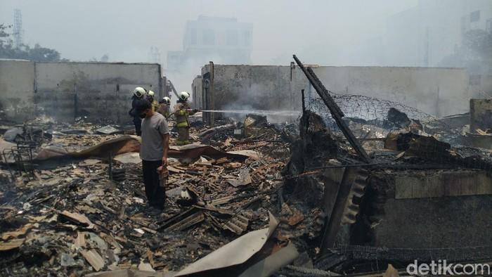 Kebakaran di Pasar Cempaka Putih, Jakarta Pusat telah padam.