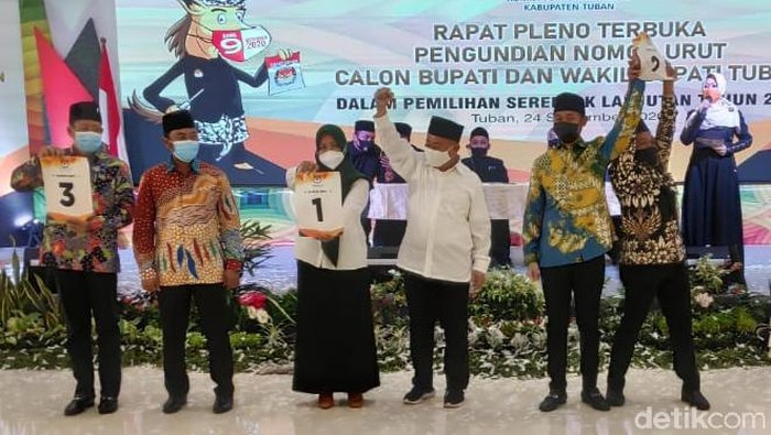 KPU beri nomor urut tiga paslon Cabup-Cawabup Tuban