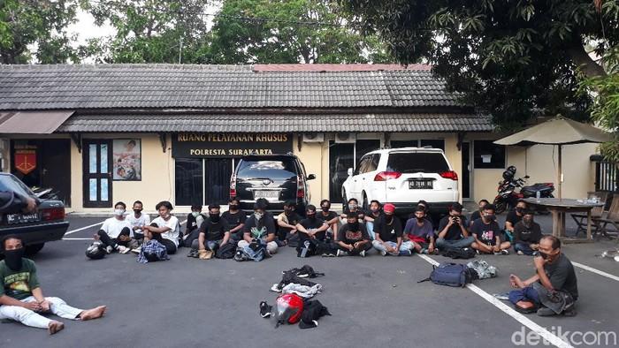 Massa yang diamankan Polresta Solo, Kamis (24/9/2020).