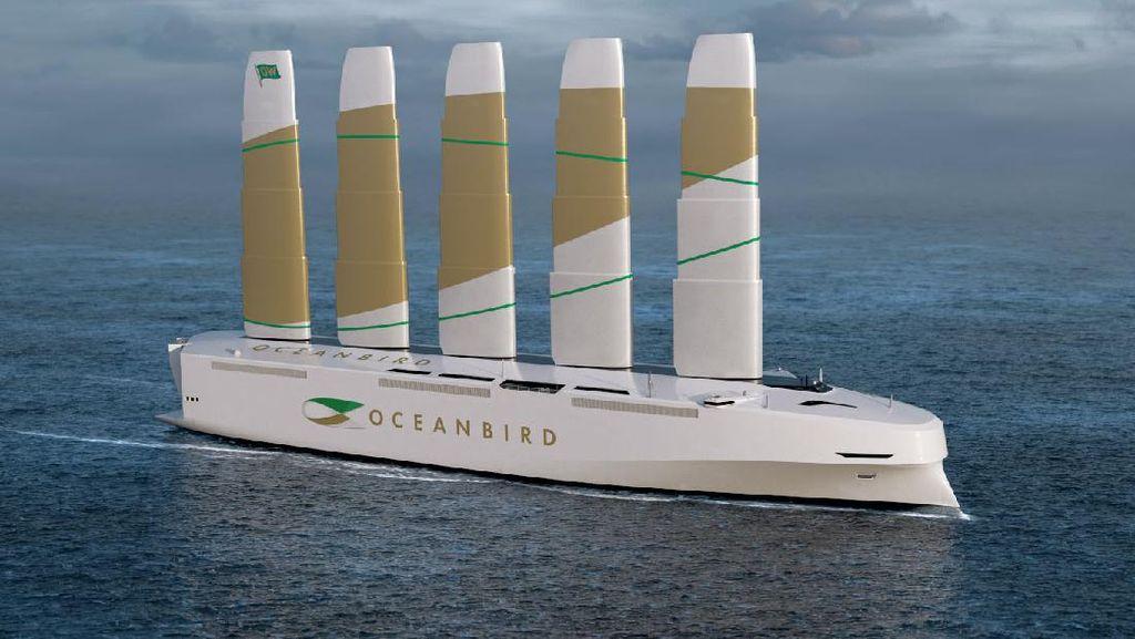 Oceanbird: Kapal Layar Terbesar di Dunia yang Enggak Punya Layar, Punyanya Sayap